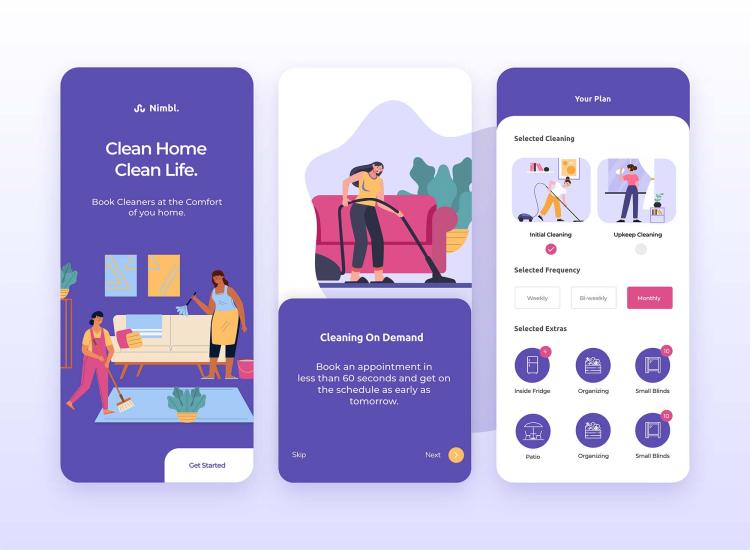 Clean App UI Design Free - UI Freebies