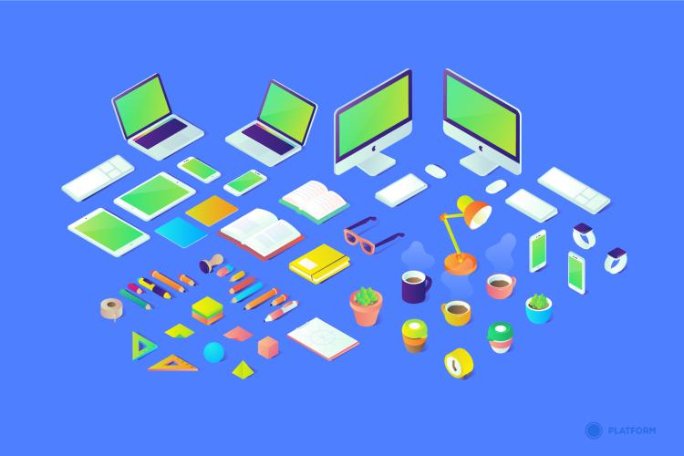 Isometric Illustrations 2 - UI Freebies