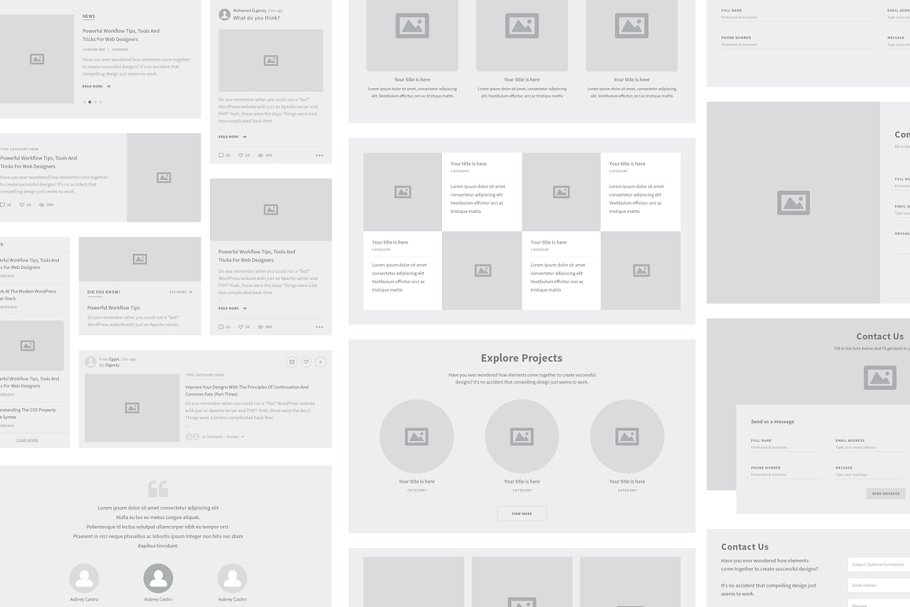 Karuki Wireframe Kit 3 - UI Freebies