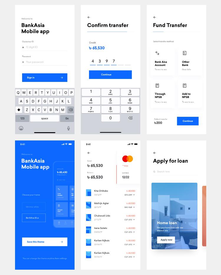 Klamma Banking UI Kit 3 - UI Freebies
