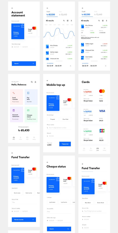 Klamma Banking UI Kit 4 - UI Freebies