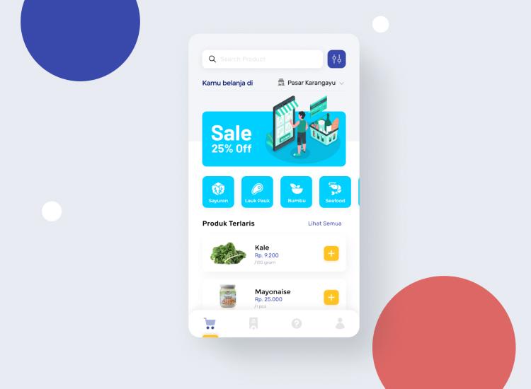 Marketplace App UI Kit 2 - UI Freebies