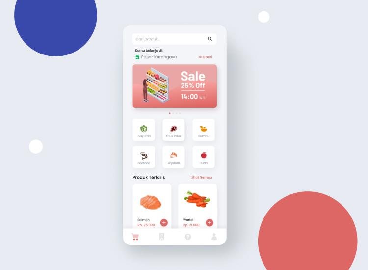 Marketplace App UI Kit 3 - UI Freebies