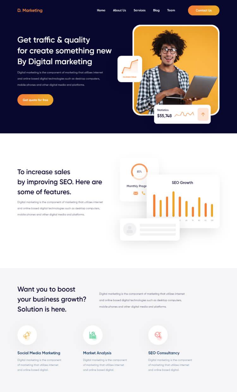 Merkary Marketing Web 2 - UI Freebies
