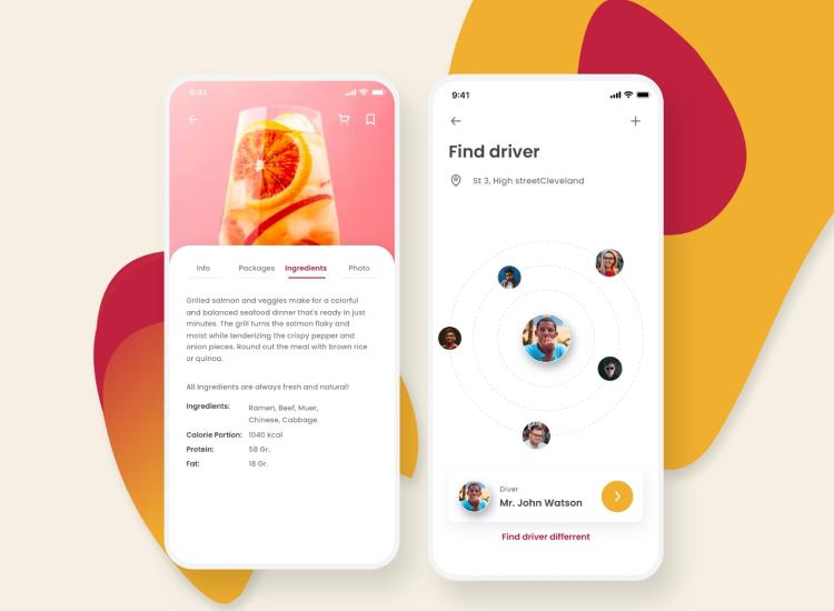 Mino Food App 02 - UI Freebies
