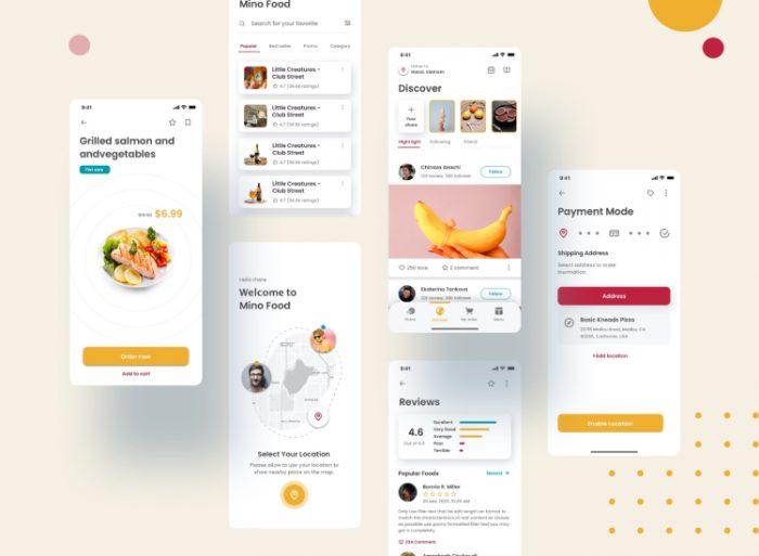 Food App Template Free Download - UI Freebies
