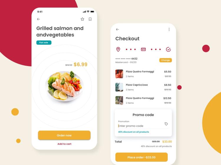 Mino Food App 04 - UI Freebies