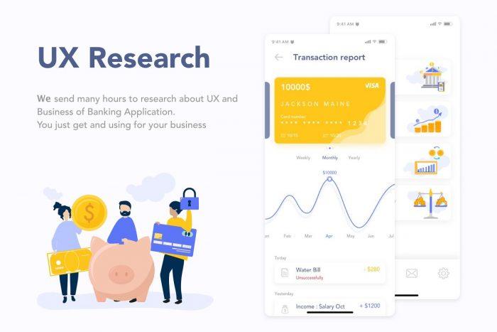 MooBank Banking App UI Kit 2 - UI Freebies