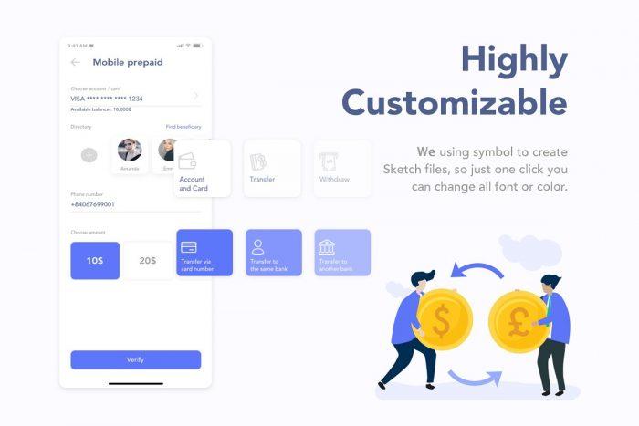MooBank Banking App UI Kit 3 - UI Freebies
