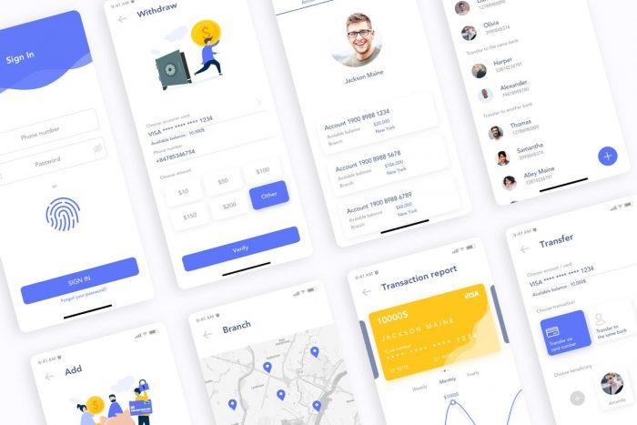 MooBank Banking App UI Kit 4 - UI Freebies