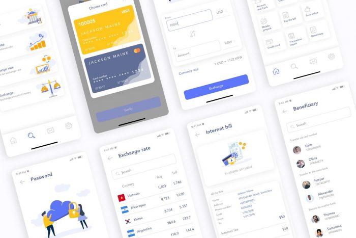 MooBank Banking App UI Kit 5 - UI Freebies