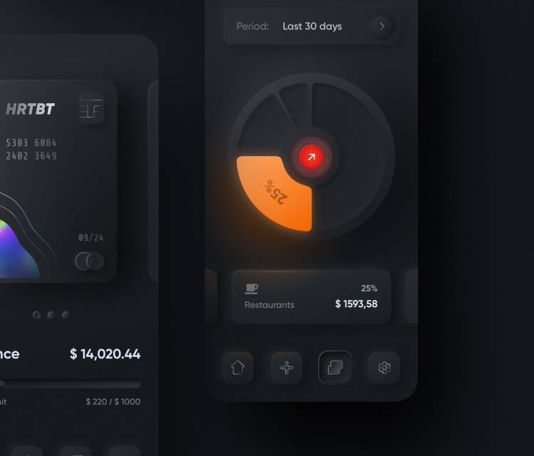 Neomorphism Banking UI Kit 2 - UI Freebies