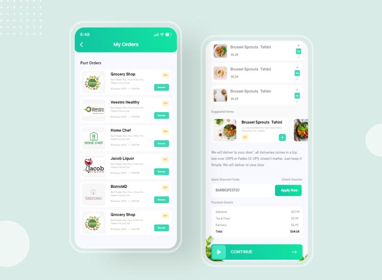 Delivery App UI Kit Free - UI Freebies