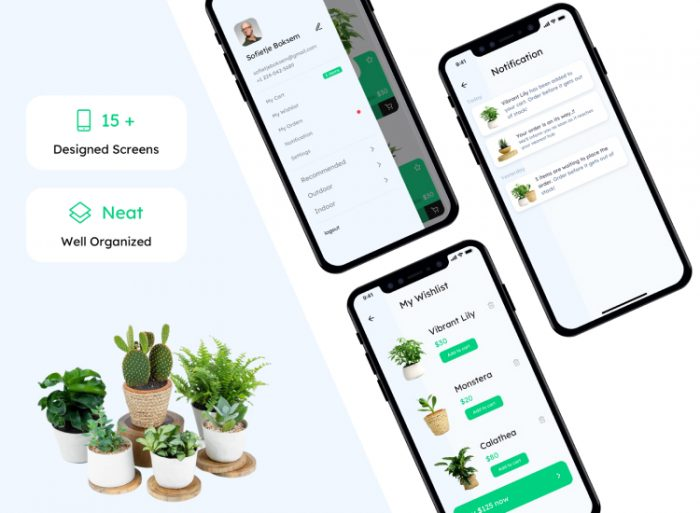 Plant Gardening App 2 - UI Freebies