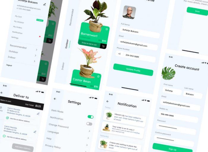 Plant Gardening App 3 - UI Freebies