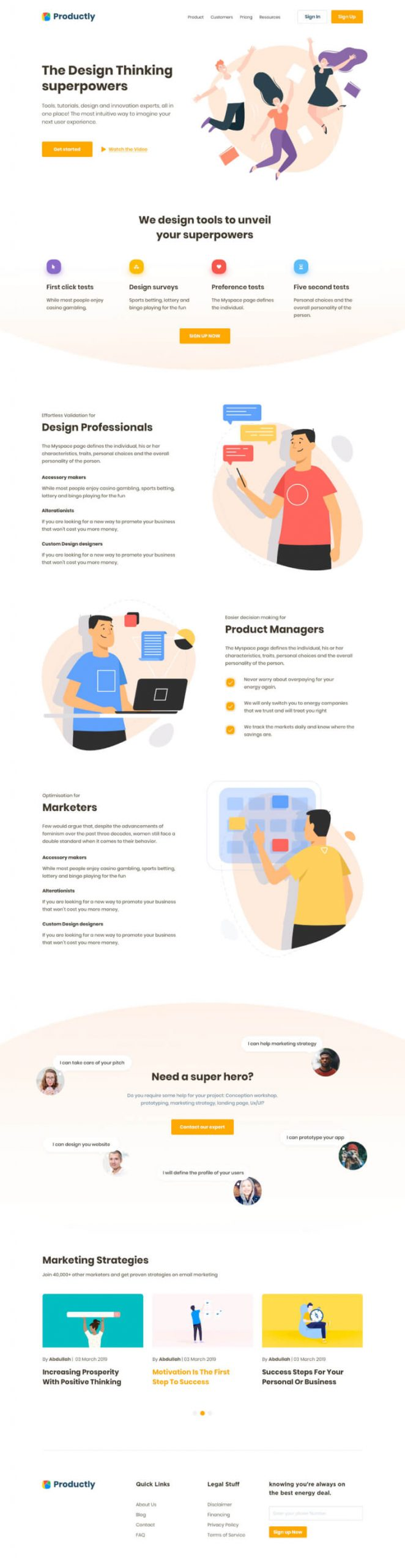 Productly Landing Page 2 scaled - UI Freebies
