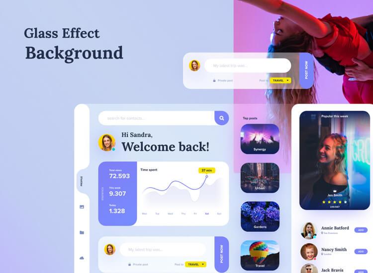 Profile Dashboard UI Kit 4 - UI Freebies