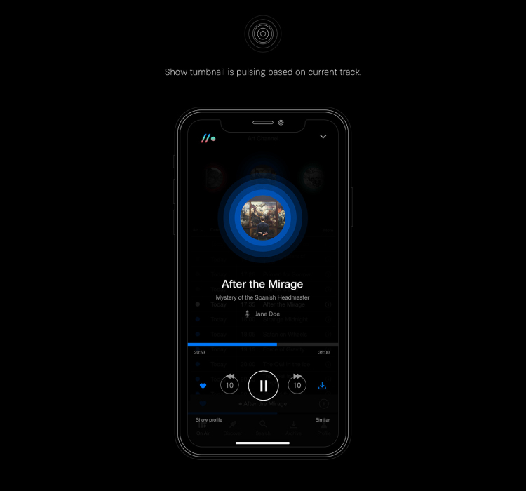 Radio Podcast App 2 - UI Freebies