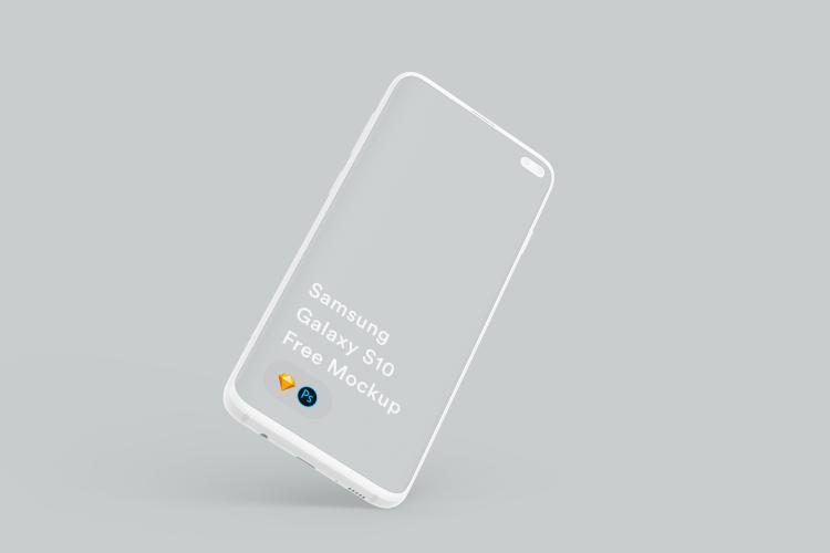 Samsung Galaxy S10 Mockup 2 - UI Freebies