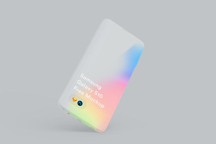 Samsung Galaxy S10 Mockup 4 - UI Freebies