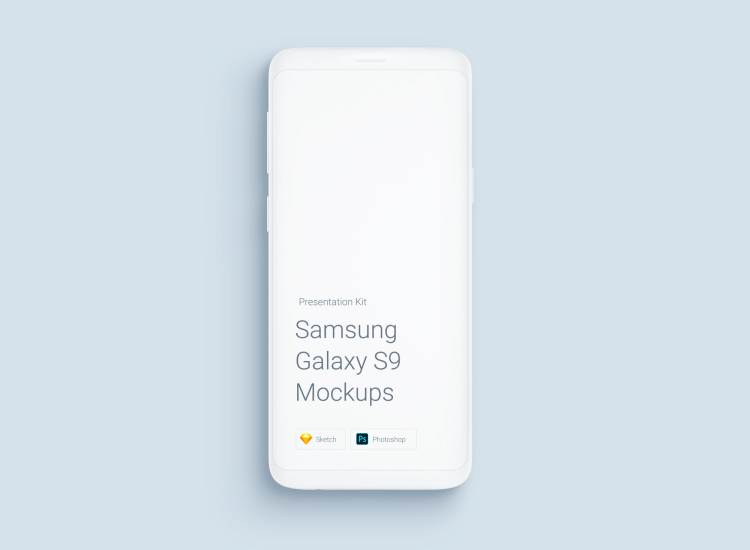 Samsung Galaxy S9 Mockup 4 - UI Freebies