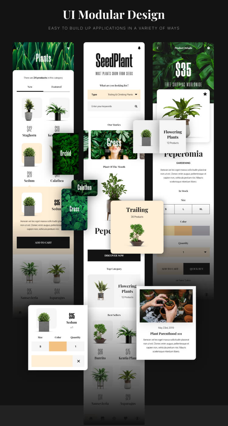 SeedPlant Ecommerce App 3 - UI Freebies