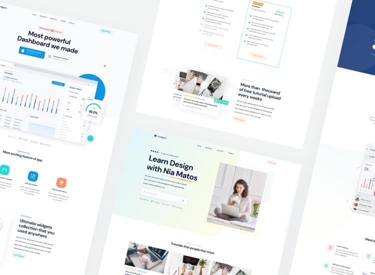 Startup Landing Page 2 - UI Freebies