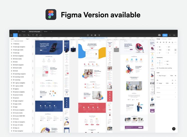 Startup Landing Page Design Free - UI Freebies