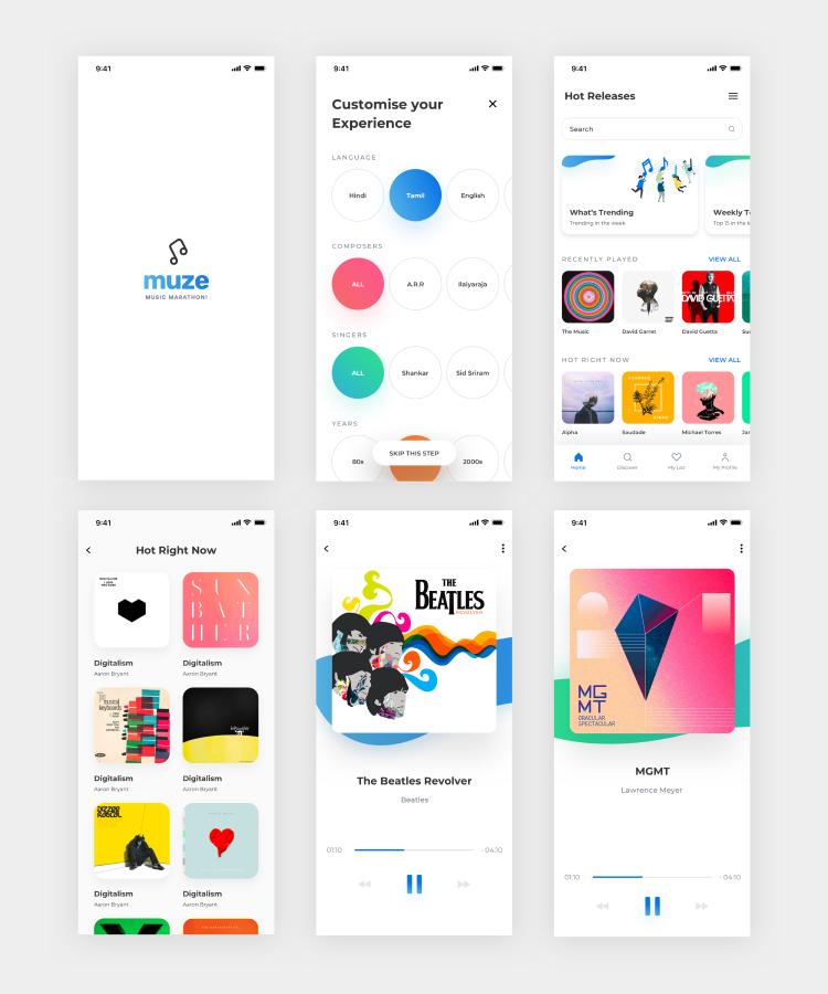 Streaming Music App 2 - UI Freebies