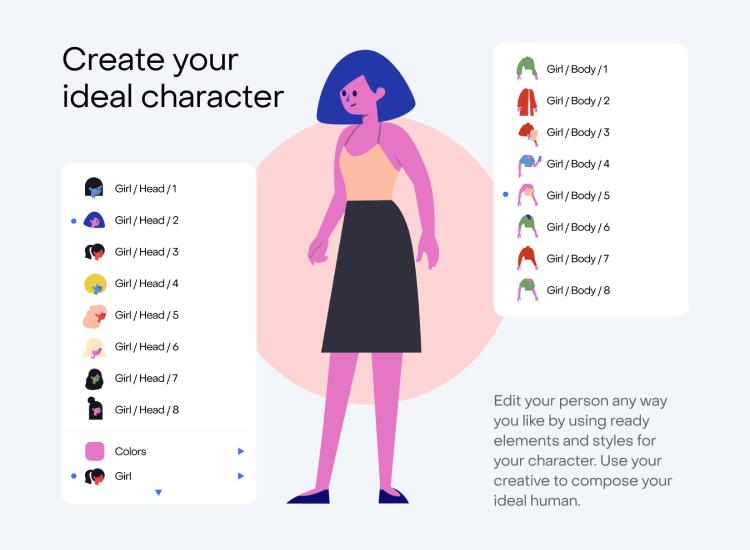 Stubborn Illustrations Free - UI Freebies
