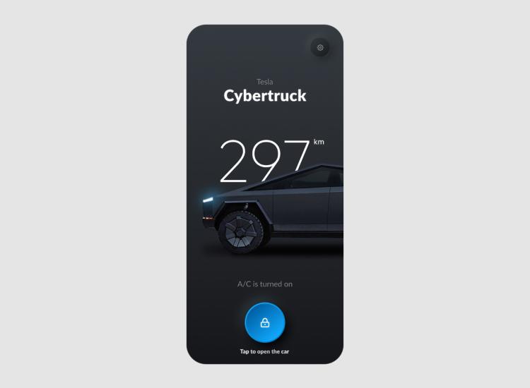 Tesla Smart App Design 4 - UI Freebies