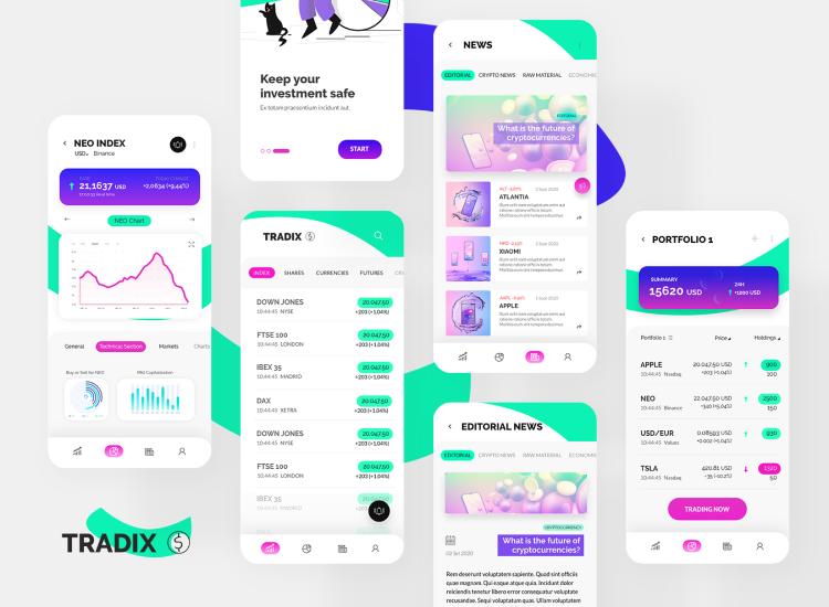 Trading App UI Kit 2 - UI Freebies