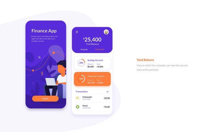 Finance App UI Kit Free - UI Freebies