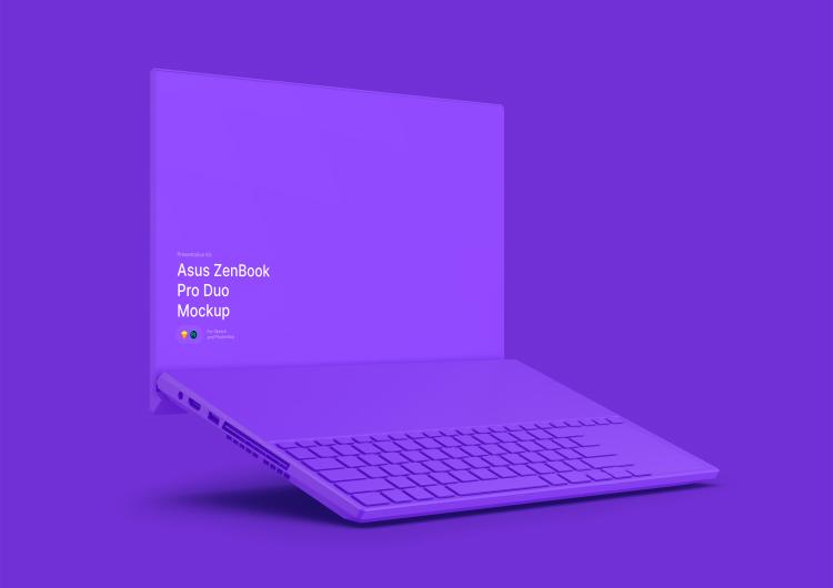 ZenBook Pro Duo Mockup 4 - UI Freebies