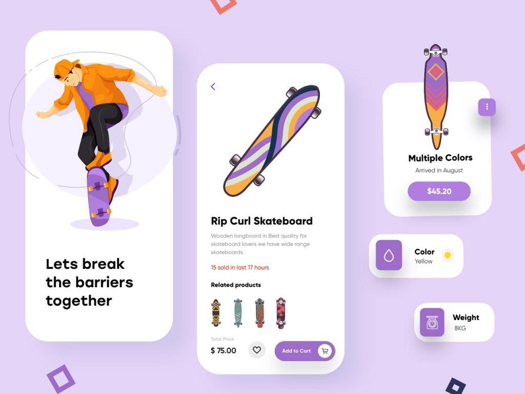 best app design inspiration on dribbble 06 1024x768 1 - UI Freebies