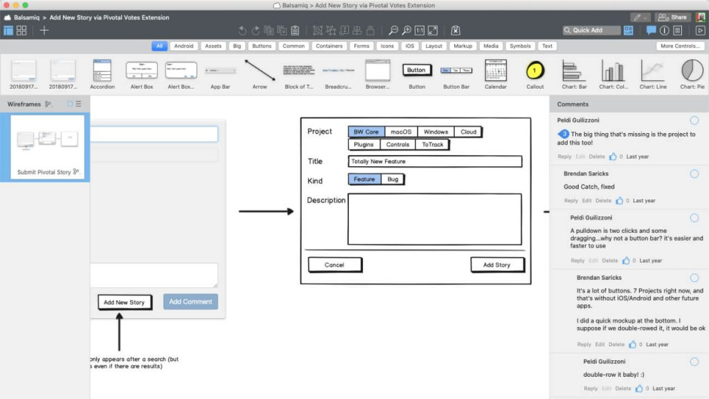 design tool balsamiq 1024x576 1 - UI Freebies