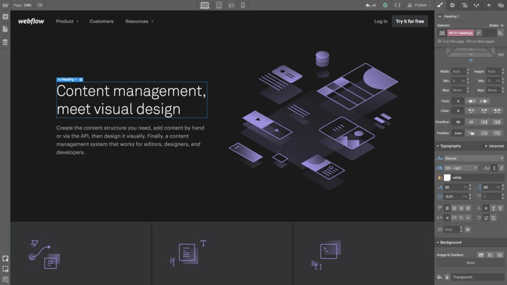 design tool webflow 1024x576 1 - UI Freebies