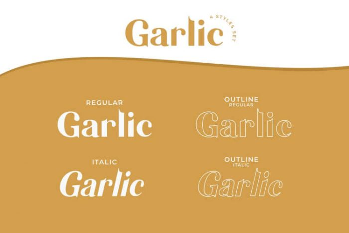garlic elegant font free 02 - UI Freebies