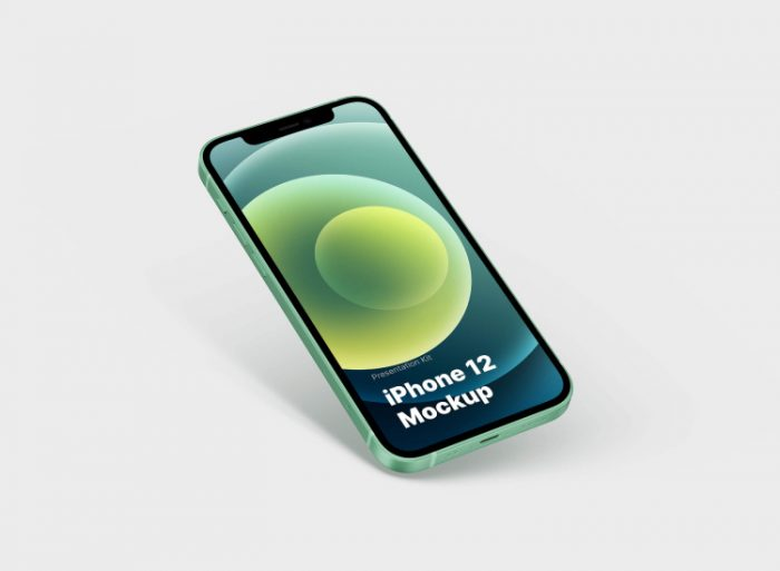 iPhone 12 Mockup 3 - UI Freebies