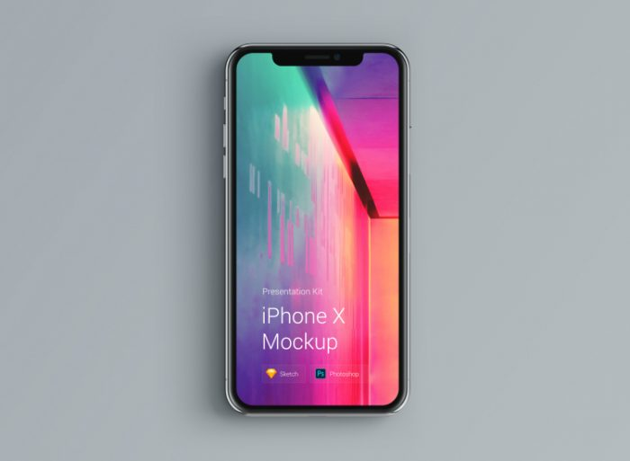iPhone X Mockup Material 2 - UI Freebies