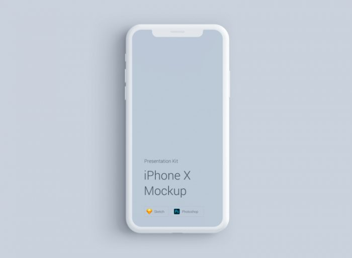 iPhone X Mockup Material 3 - UI Freebies