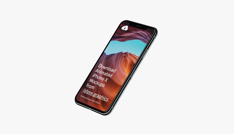 iPhone X Template Mockups 3 - UI Freebies