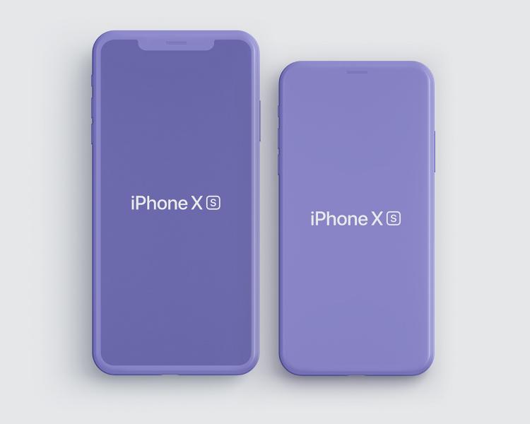 iPhone XS Max Mockup PSD Free Download - UI Freebies