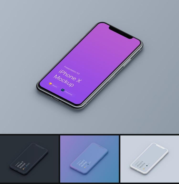 iphone x mockups kit 01 - UI Freebies