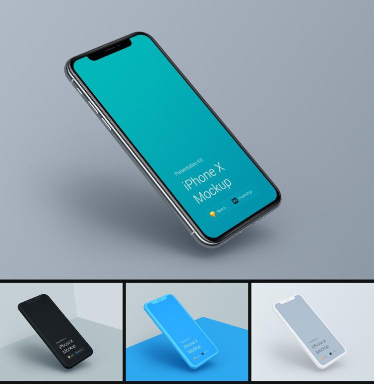 iphone x mockups kit 02 - UI Freebies