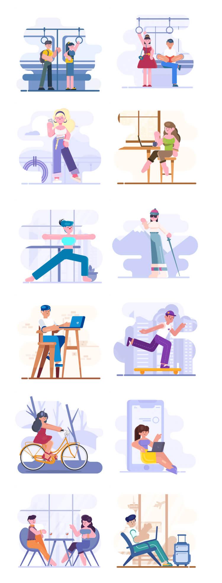 loomis illustrations 2 - UI Freebies