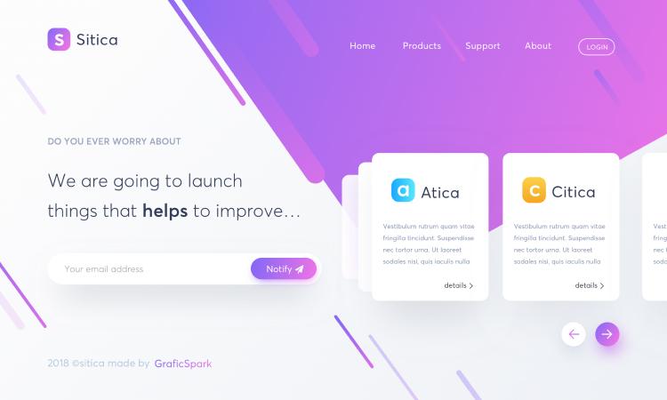 App Landing Page Design Free - UI Freebies