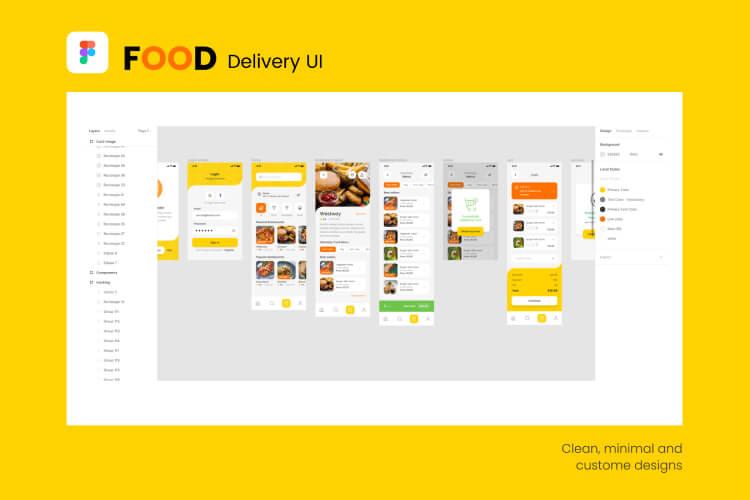 yummy food delivery ui kit 02 - UI Freebies