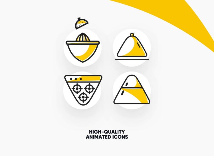20 Kitchen Animated Icons 3 - UI Freebies