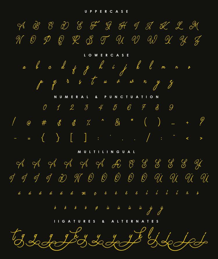 Bragitha Font Free 5 - UI Freebies